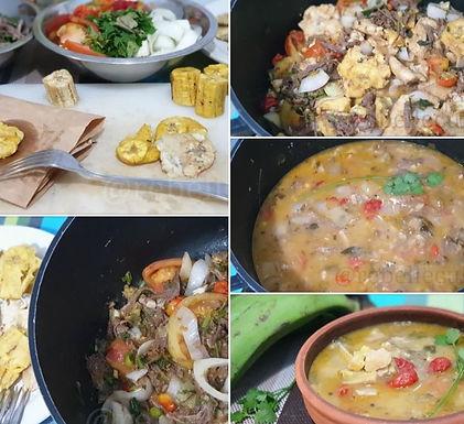 Sopa cubana de platano verde frito (soupe de bananes vertes frites)