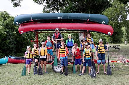 Group shot of kids after instruction