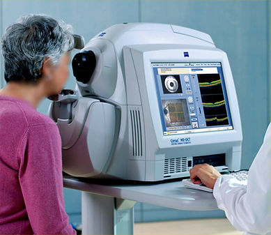optical coherence tomography OCT machine testing for glaucoma