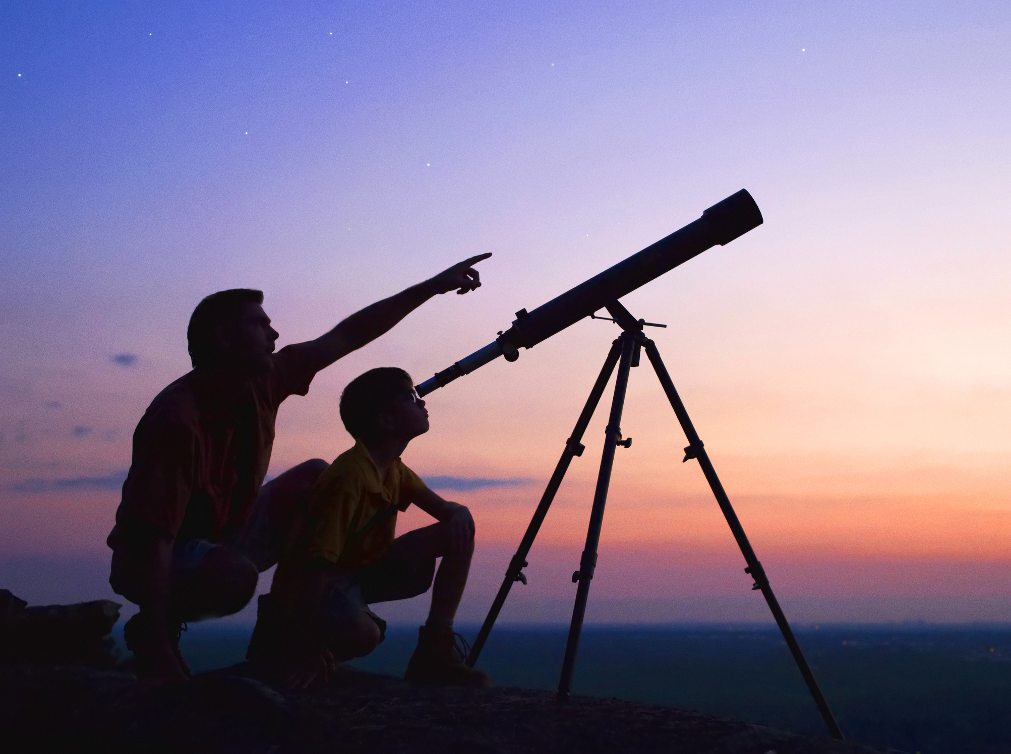 Father & Son at Telescope