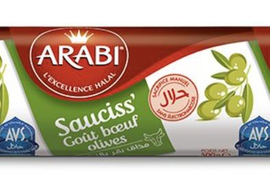 Saucisson Goût Boeuf olives 500g AVS