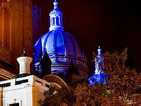 Nighttime-Cuenca-Ecuador-New-Cathedral-N