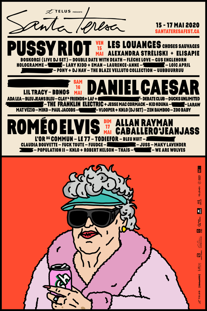 Roméo Elvis, Pussy Riot et Daniel Caesar en tête d'affiche du Festival Santa Teresa