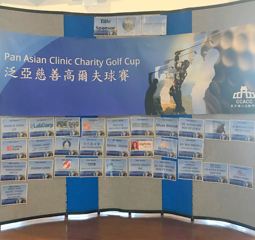 Golf Cup Sponsors Wall