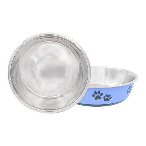 Designer Paw Print Bowl (Maya Blue)