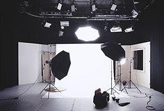 Photography studio with lighting