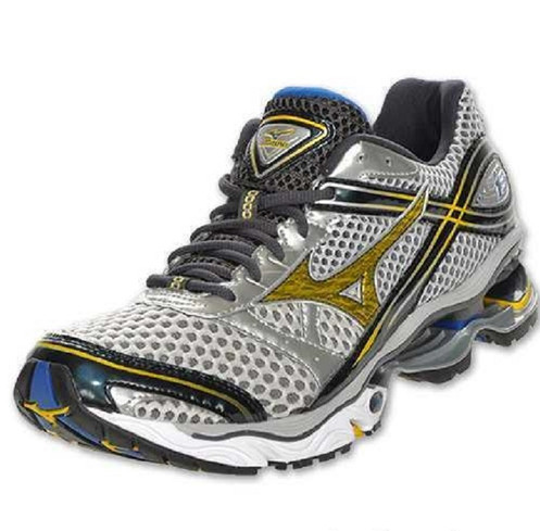 sports shoes a2d50 f8234 Mizuno Men s Wave Creation 13 Running Shoe, Silver Blue Yellow