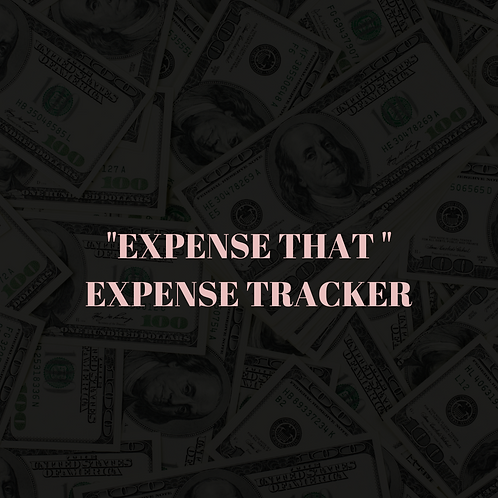 """""""Expense That"""" Expense Tracker"""