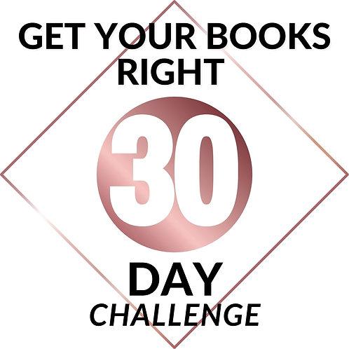 30 Day #getyourbooksright Challenge
