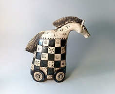 The chess Horse sculpture