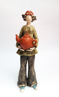 Girl with a teapot