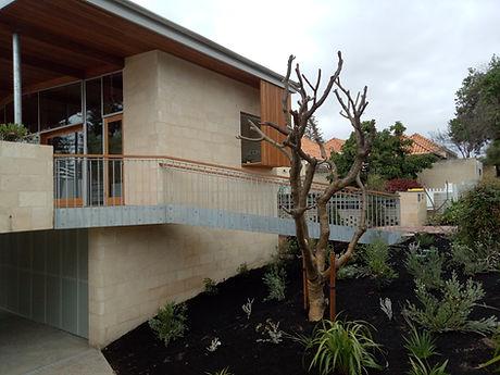 Custom fabricated balustrade