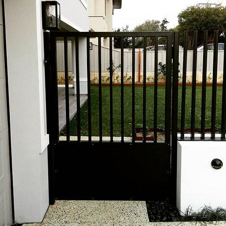 Custom fabricated steel gate