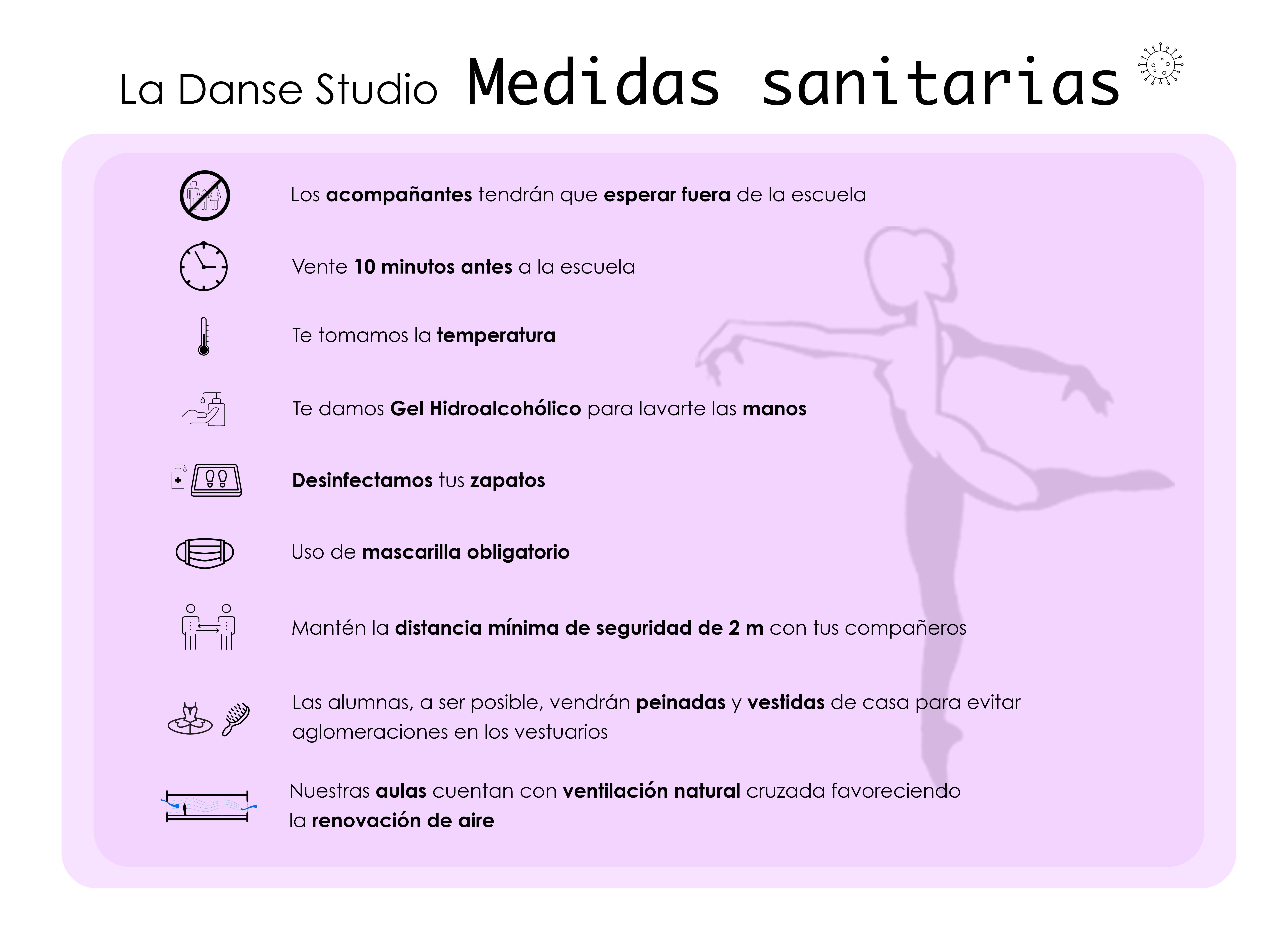 Medidas Sanitaria La Danse Studio