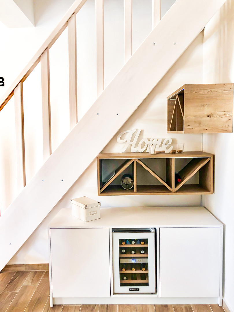 Wine cabinet corner...