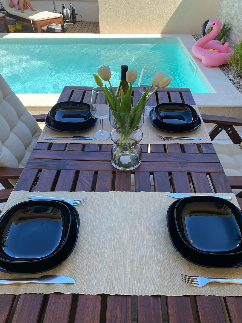 Terrace with dinning table...