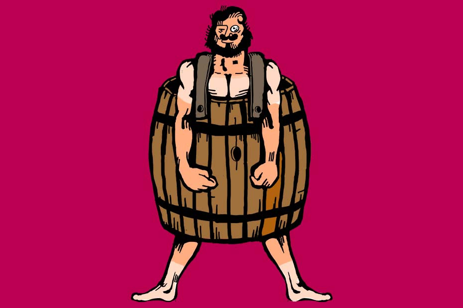 Random guy in a barrel