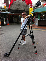 Dan overlooking a shoot in Singapore