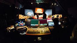 Light desk at a studio production