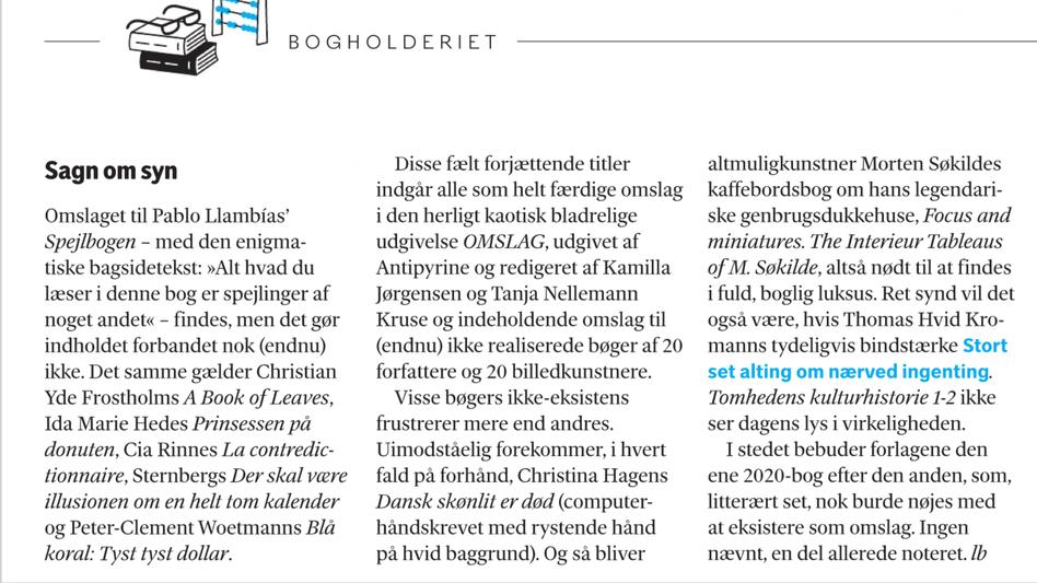 Weekendavisen, Lars Bukdahl, januar 2020