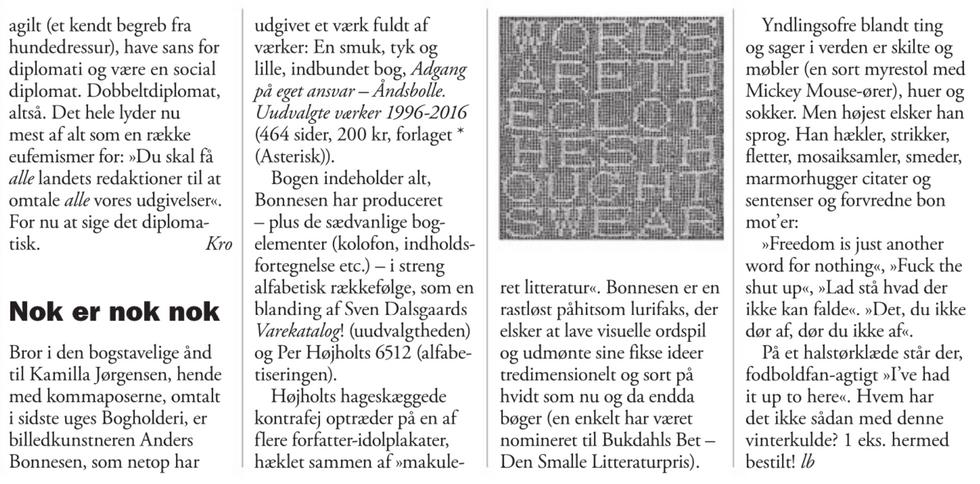 Weekendavisen, Lars Bukdahl, 20.1.2017