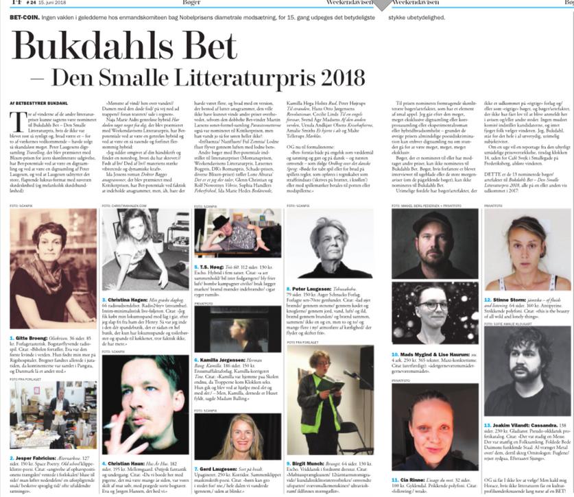 weekendavisen, Lars Bukdahl,15.6.2018