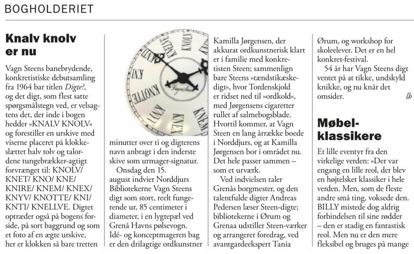 Weekendavisen, Lars Bukdahl, 10.8.2018