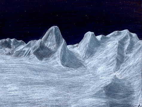 Snowy Mountain Range (Hand-drawn)