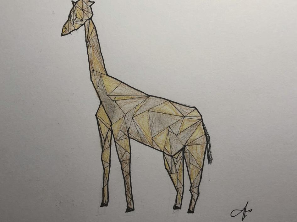Geometric Giraffe (Hand-drawn)