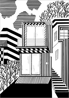 Графика, маркеры, 60х40, Анна-Мария Онищук