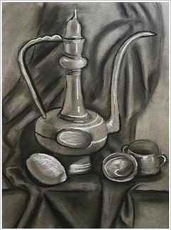 Рисунок, уголь, мел, 40х30, Елизавета Егорова