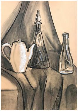 Рисунок, уголь, мел, 50х35, Андрей Наконечный