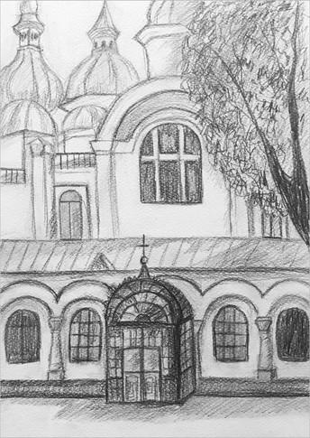 Пленэр, карандаш, 30х20, Елизавета Егорова