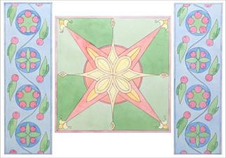 Орнаментальна композиция по мотивам Киевской Руси, полихромия 50х70, Екатерина Присяженко