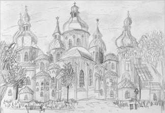 Пленеэр, карандаш, 30х20, Екатерина Присяженко