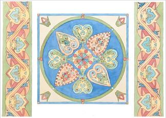 Орнаментальная композиция по мотивам Киевской Руси, 40х60, Евгения Лысенко