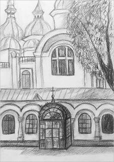 Пленэр, карандаш, 30х20, Елизавате Егорова