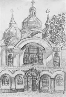 Пленэр, карандаш, 30х20, Екатерина Присяженко