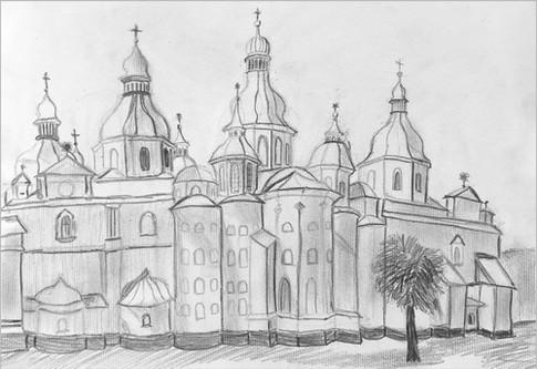Пленэр, карандаш, 20х30, Дмитрий Беленчук