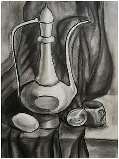 Рисунок, уголь, мел, 40х30, Анна-Мария Онищук