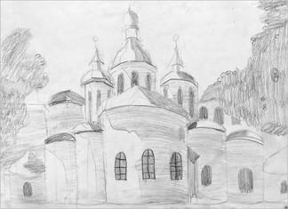 Пленэр, карандаш, 20х30, Стефания Романова