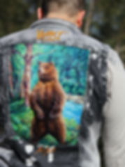 Custom vest, painted vest, bear vest,