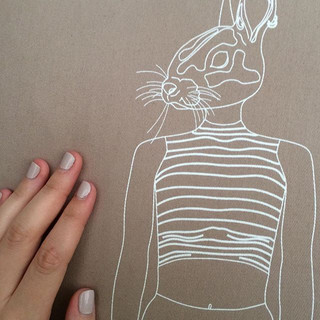 Hipster Rabbit pillowcase 🐰_.__baileyfu