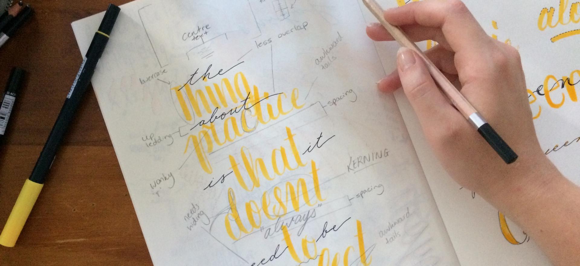 Katie Wittle Designs - Hand Lettering