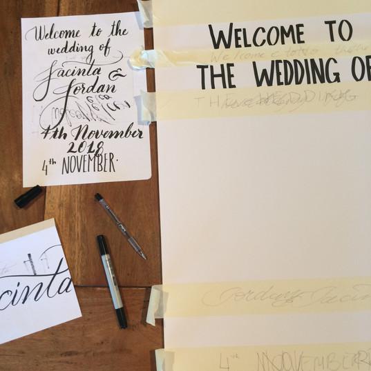 Wedding prop preperation