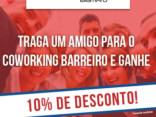 A Promoção do mês de Marco do Coworking Barreiro está um babado!