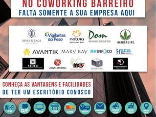 Traga sua empresa para o COWORKING BARREIRO!