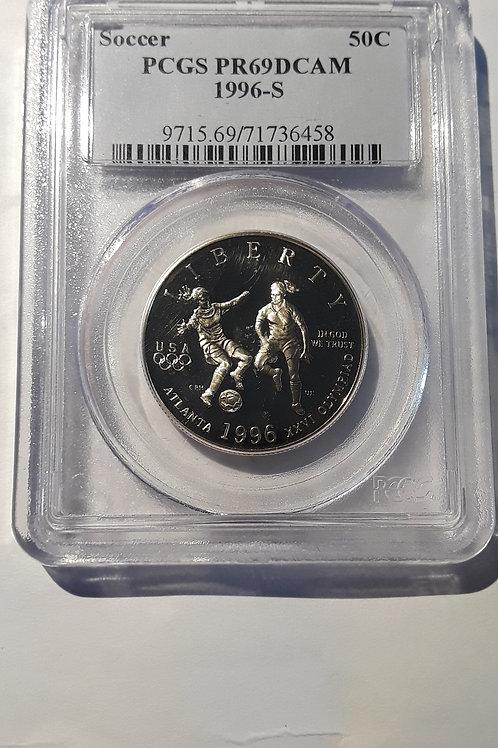 US Coins 1996-S 50C, 50 Cents Soccer Half Dollar PCGS#71736458 Grade PR69DCAM
