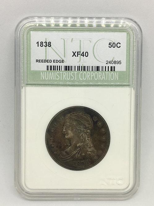 US Coins 1838 50C, 50 Cents Half Dollar NTC#240895 Grade XF 40