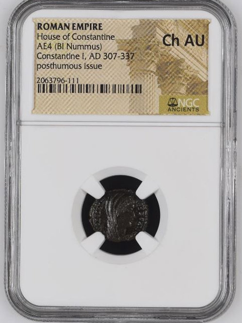 Ancient Coins Roman Empire House of Constantine AE4, AD 307-337 NGC# 2063796-111